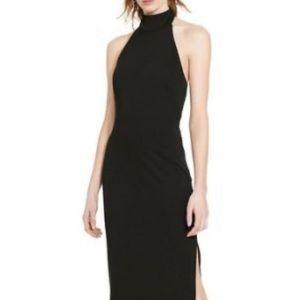 Ralph Lauren long black halter jersey dress